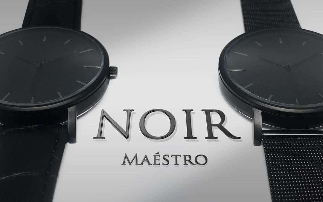 Maéstro Watch Co.'s Elegant Noir Watch