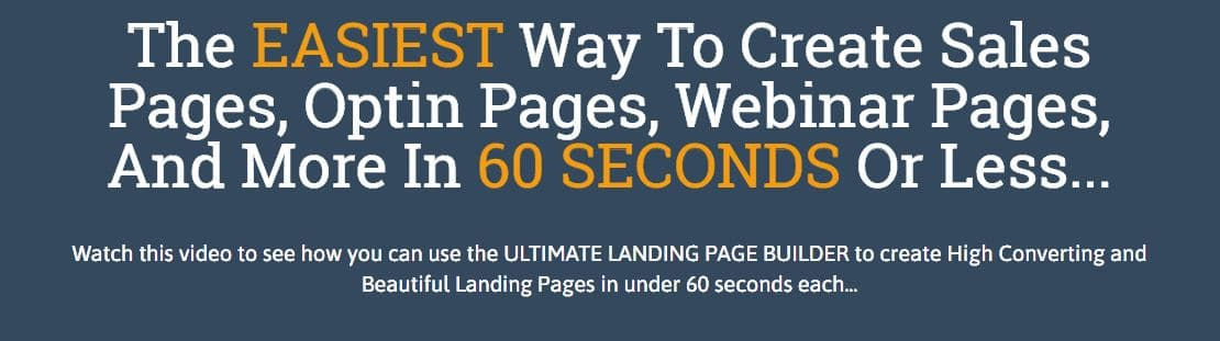 1 minute sites landing pages
