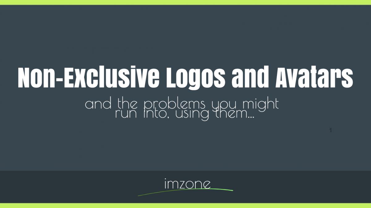 The Obvious Problem with Non-Exclusive Logos and Avatars