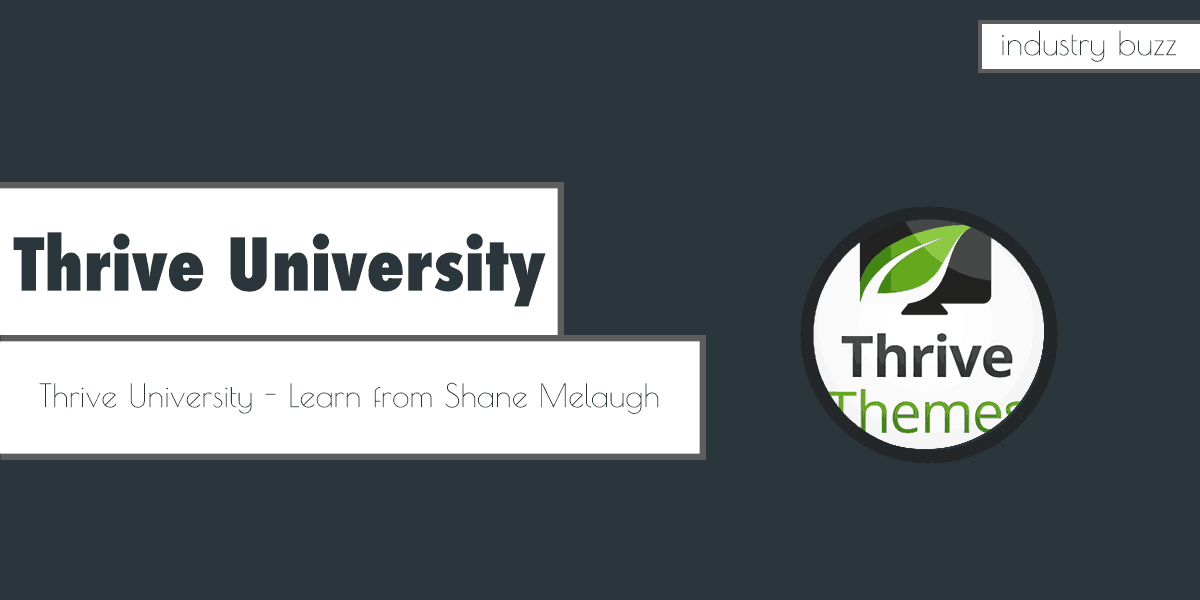 Thrive University – Learn from Shane Melaugh