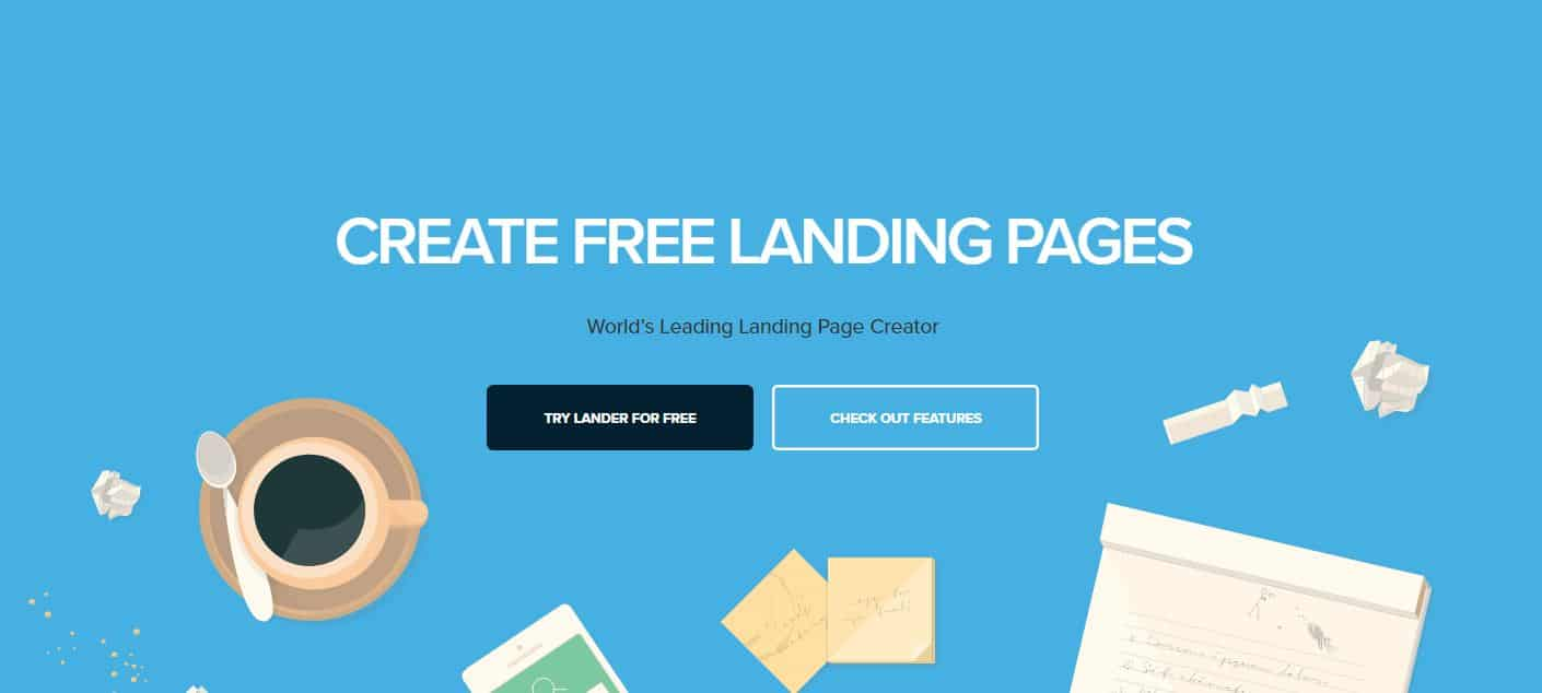 easy alnding pages with lander