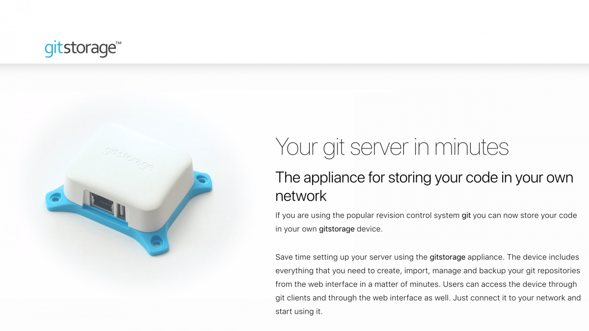 GitStorage Brings Your Cloud Back Down to Earth